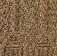 Фото узор из кос (жгутов) №1781 спицами