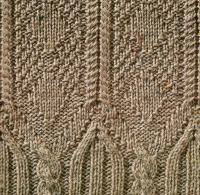 Фото узор из кос (жгутов) №1782 спицами
