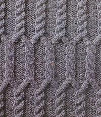 Фото узор из кос (жгутов) №1784 спицами