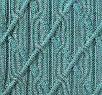 Фото узор из кос (жгутов) №1786 спицами