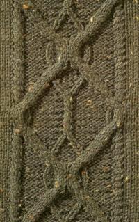 Фото узор из кос (жгутов) №1788 спицами