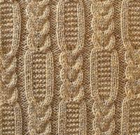 Фото узор из кос (жгутов) №1789 спицами