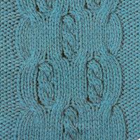 Фото узор из кос (жгутов) №1797 спицами