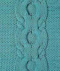 Фото узор из кос (жгутов) №1799 спицами