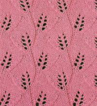 Фото узор ажурный №1801 спицами