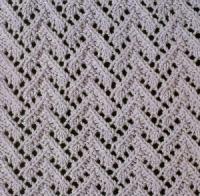 Фото узор ажурный №1802 спицами