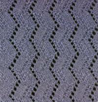 Фото узор ажурный №1804 спицами