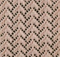 Фото узор ажурный №1806 спицами