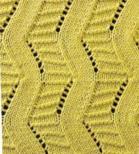 Фото узор ажурный №1810 спицами