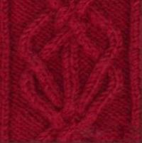 Фото узор из кос (жгутов) №1978 спицами