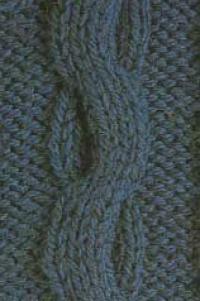 Фото узор из кос (жгутов) №2002 спицами