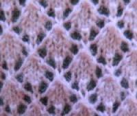 Фото узор ажурные ромбы №2029 спицами