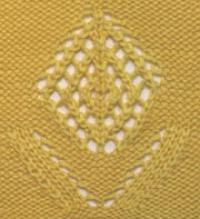 Фото узор ажурные ромбы №2042 спицами