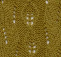Фото узор ажурные ромбы №2043 спицами