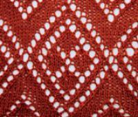 Фото узор ажурные ромбы №2044 спицами