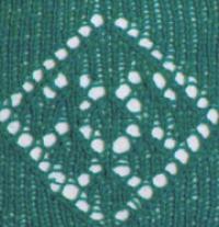Фото узор ажурные ромбы №2045 спицами