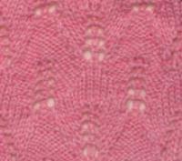 Фото узор ажурные ромбы №2046 спицами