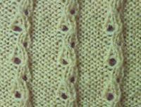 Фото узор ажурные дорожки №2065 спицами