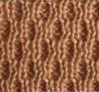 Фото узор двусторонний вафли №2211 спицами