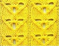 Фото узор ажурный №2314 спицами