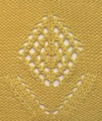 Фото узор ажурный №2558 спицами