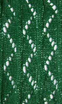 Фото узор ажурные дорожки №2560 спицами