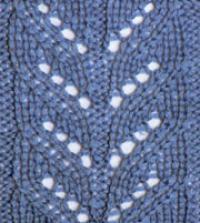 Фото узор ажурные полосы №2568 спицами