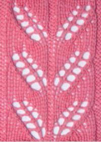 Фото узор ажурные полосы №2577 спицами