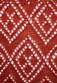 Фото узор ажурные ромбы №2580 спицами