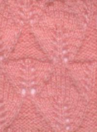 Фото узор ажурные ромбы №2712 спицами