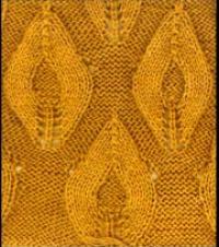 Фото узор ажурные ромбы №2654 спицами