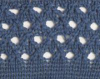 Фото узор ажурный с дырочками №2710 спицами