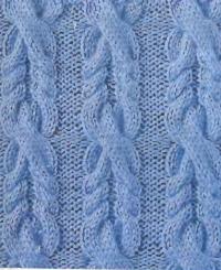 Фото красивый <em>вязание образцы объемных узоров спицами</em> узор №3483 спицами
