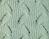 Фото узор резинка №3503 спицами