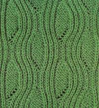 Фото узор резинка №3504 спицами
