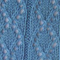 Фото узор из ажурных ромбов №3512 спицами