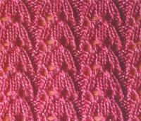 Фото ажурный узор №3532 спицами