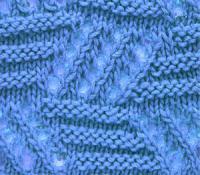Фото плотный ажурный узор №3553 спицами