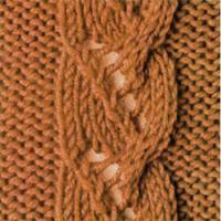 Фото узор косы и жгуты №3570 спицами