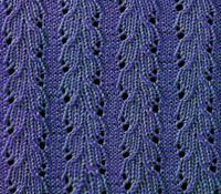 Фото ажурный узор №3617 спицами