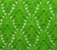 Фото ажурный узор из листьев №3625 спицами