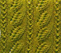 Фото узор листья №3642 спицами