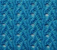 Фото объемный ажурный узор №3661 спицами