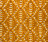 Фото узор из ажурных ромбов №3663 спицами