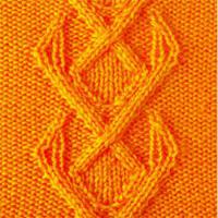 Фото рельефный узор №3712 спицами