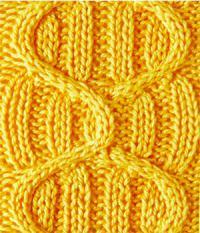 Фото рельефный узор №3718 спицами