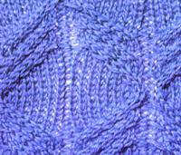 Фото рельефный узор №3720 спицами
