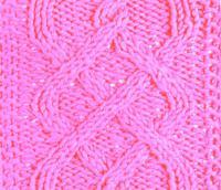 Фото рельефный узор №3728 спицами