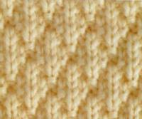 Фото узор изнаночная гладь №3977 спицами