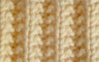 Фото узор резинка №3989 спицами